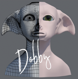 Dobby – 3D Hoofd modelleren + animeren